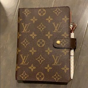 Louis Vuitton Agenda MM (with pen & inserts)